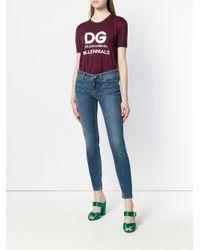 Dolce & Gabbana ウォッシュド スキニージーンズ Blue