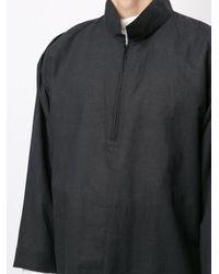 Camisa oversize Homme Plissé Issey Miyake de hombre de color Gray