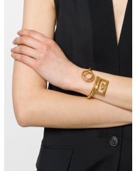 Givenchy - Metallic Double G Curved Bracelet - Lyst