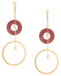 Joanna Laura Constantine Metallic Shoulder Duster Earrings
