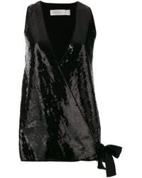 Gilet con paillettes di Victoria, Victoria Beckham in Black