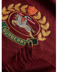 Burberry アーカイブロゴ カシミアマフラー Red