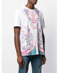 メンズ Versace アブストラクトパターン Tシャツ White