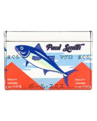 Paul Smith White Tuna Print Card Holder for men