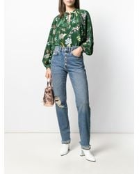 Zadig & Voltaire プリント ブラウス Green
