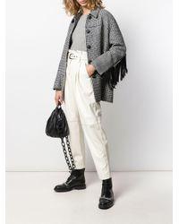 Pantaloni a vita alta di Pinko in White