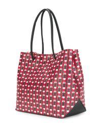 Marc Jacobs Red Scream Logo Shopper Bag