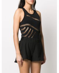 Adidas By Stella McCartney カットアウト ボディスーツ Black