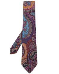 Etro | Purple Printed Tie for Men | Lyst