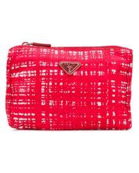 Prada Red Nylon Make-up Bag