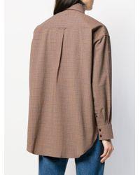 Acne オーバーサイズ チェックシャツ Brown