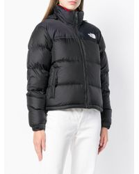 The North Face - Black Cropped Padded Jacket - Lyst