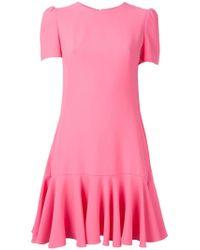 Alexander McQueen Pink Cape-back Mini Dress