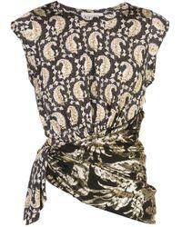 Top Coudreau con diseño fruncido Altuzarra de color Black