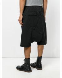 Rick Owens Drkshdw - Black Drawstring Drop-crotch Shorts for Men - Lyst