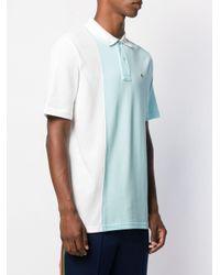 メンズ Lacoste L!ive バイカラー ポロシャツ Blue