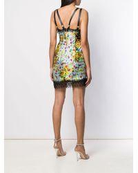 Vestito lungo a fiori di Versace Jeans in Multicolor