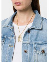 KTZ - Metallic Plate Necklace - Lyst