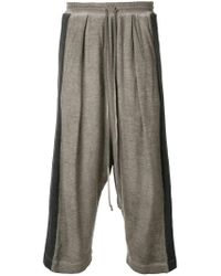 Lost and Found Rooms - Gray Harem Trousers for Men - Lyst