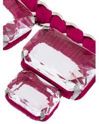 Rada' - Pink Chunky Rhinestone Necklace - Lyst