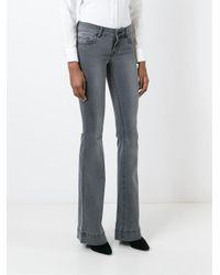 J Brand Gray High Waist Flared Jeans