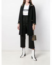Moschino Black Mantel mit Kettendetail