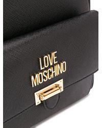 Love Moschino スカーフディテール バックパック Black