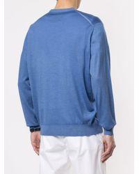 Pull en maille Kiton pour homme en coloris Blue