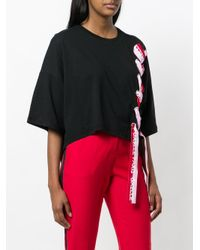 Gaëlle Bonheur Black Ribbon Tie T-shirt