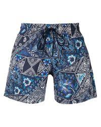 Плавки-шорты С Принтом Пейсли Etro для него, цвет: Blue