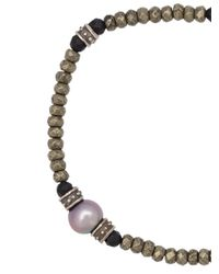 Roman Paul - Metallic Beaded Bracelet for Men - Lyst