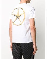 メンズ SSS World Corp スローガン Tシャツ White