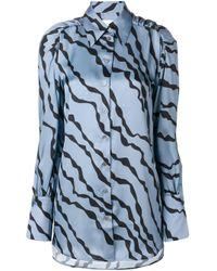 Camicia aderente di Victoria, Victoria Beckham in Blue