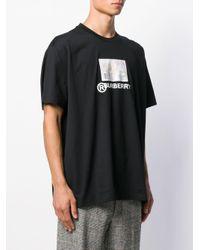 Camiseta con motivo de pasaporte Burberry de hombre de color Black