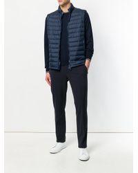 Peuterey - Blue Zipped Padded Vest for Men - Lyst