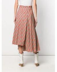 Fendi - Green Ff High-waisted Skirt - Lyst