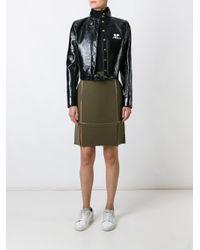 Courreges Green Straight Skirt