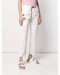 Pantaloni taglio comodo di White Sand in White