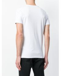 Versace Jeans White Logo Print T-shirt for men
