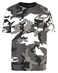 Supreme Gray Camouflage Print T-shirt for men