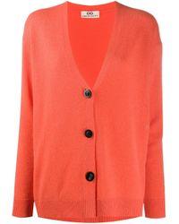 Cardigan ample classique SMINFINITY en coloris Orange