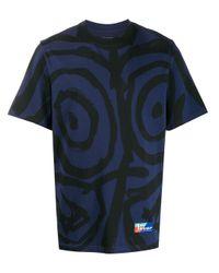 T-shirt con applicazione di Martine Rose in Blue
