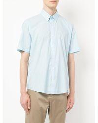 Cerruti 1881 - Blue Plain Shortsleeved Shirt for Men - Lyst