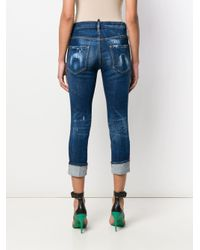 DSquared² Easy クロップドジーンズ Blue