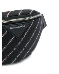 Karl Lagerfeld K/stripe ベルトバッグ Black