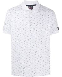 メンズ Paul & Shark プリント ポロシャツ White