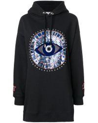 Tommy Hilfiger | Black Printed Hoodie Dress | Lyst