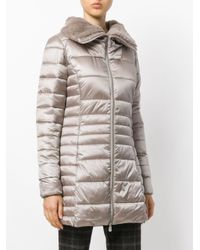 Save The Duck - Gray Padded Coat - Lyst