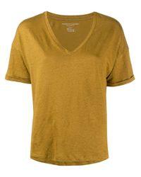 Majestic Filatures Vネック Tシャツ Yellow