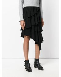 Étoile Isabel Marant Black Weez Tiered Skirt